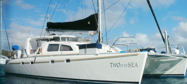 Two if by Sea is crewed charter catamaran