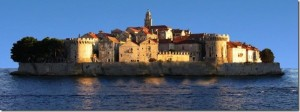 The romantic town of Korcula