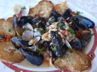 Fresh seafood everywhere